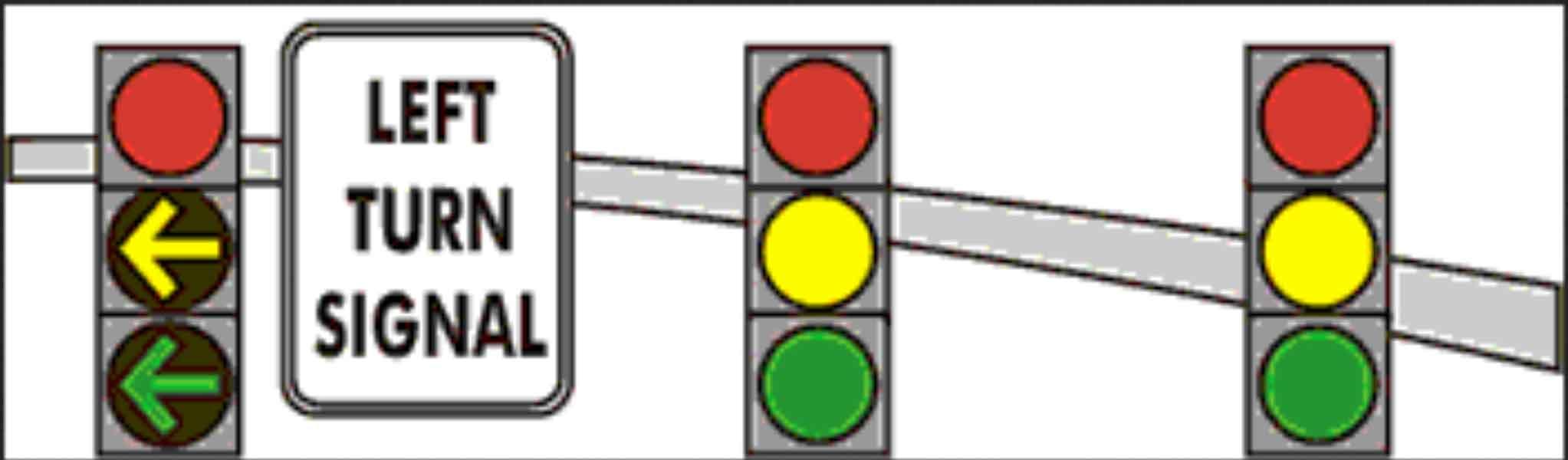 yellow arrow traffic light - photo #36
