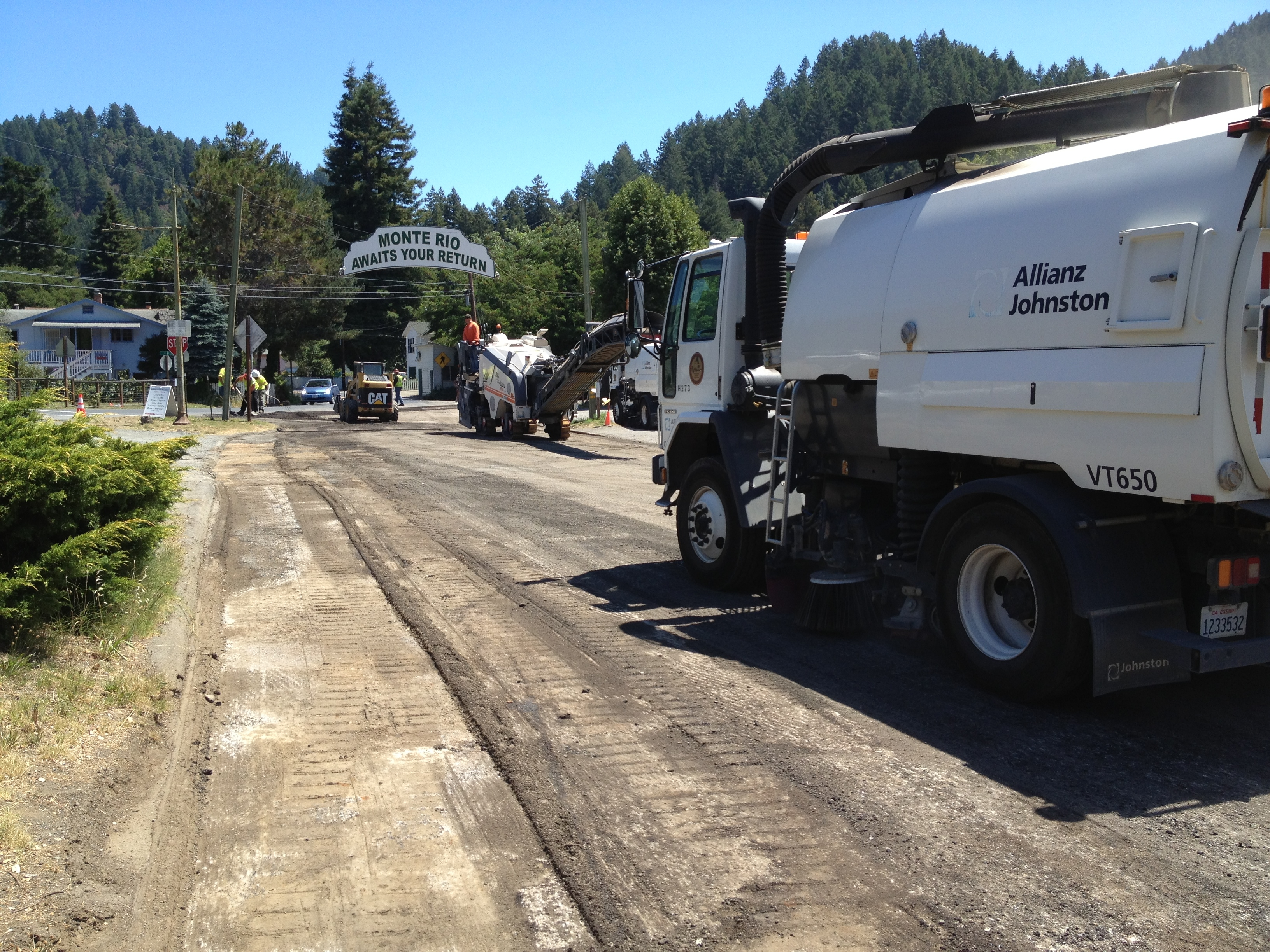 County crews are rebuilding and repaving Main Street in Monte Rio. (Photo courtesy of Rob Silva)