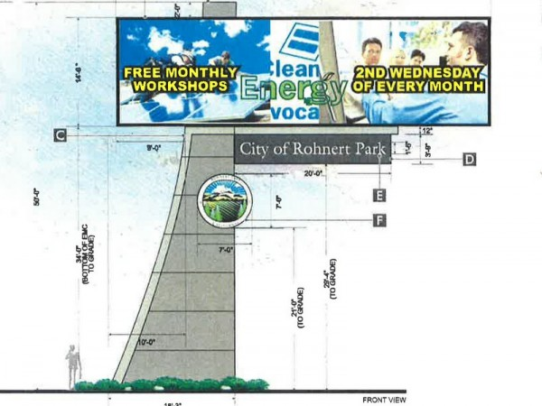 Rohnert Park's new digital sign should be finished by Sept. 1.                                         (Courtesy of Rohnert Park)