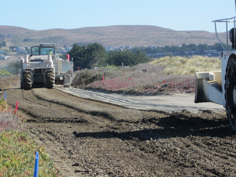 Doran Beach Road is being rebuilt from the ground up. (Photo: Janice Thompson)